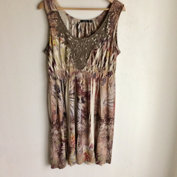 Apt. 9 Dresses & Skirts - Apt 9 Brown Multicolor Sleeveless Dress Size L